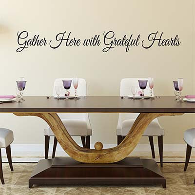 Gather Here Vinyl Wall Decal Sticker - Decor Designs Decals