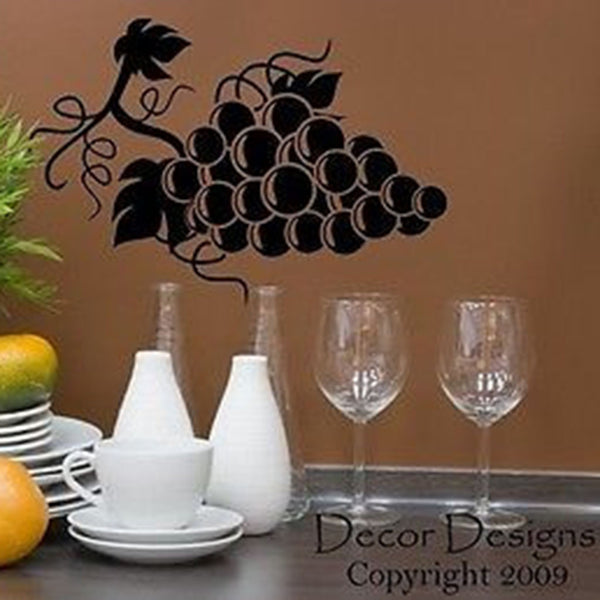 Grapes Vinyl Wall Decal Sticker - Decor Designs Decals
