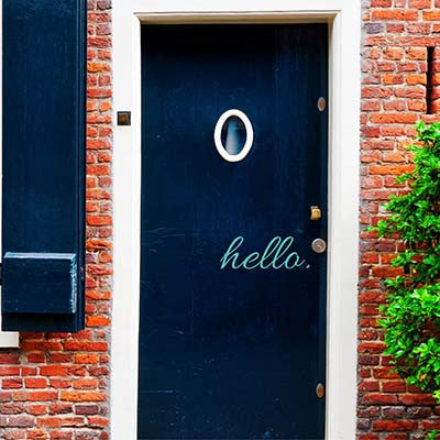 Hello Vinyl Wall Decal Sticker - Decor Designs Decals