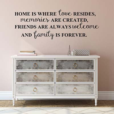 Home Is Where Vinyl Wall Decal Sticker - Decor Designs Decals