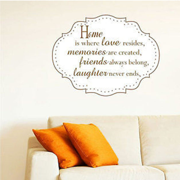 Home Quote Printed Fabric Repositionable Wall Decal - Decor Designs Decals