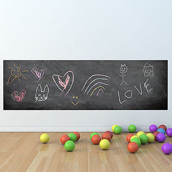 Huge 6 Foot Chalkboard Vinyl Wall Decal Sticker - Decor Designs Decals