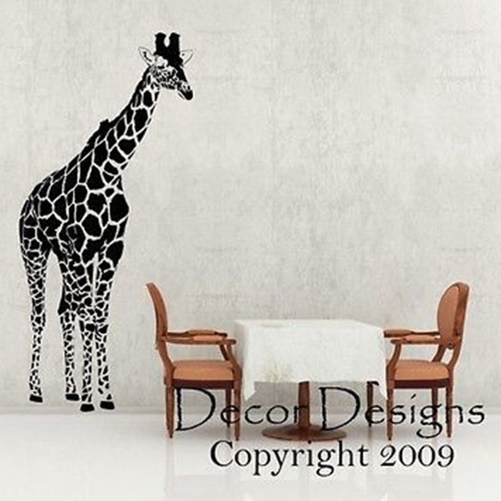 Huge Giraffe Vinyl Wall Decal Sticker   Decor Designs Decals