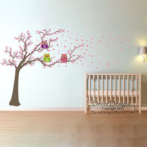 Huge Owl Tree Printed Vinyl Wall Decals Sticker - Decor Designs Decals