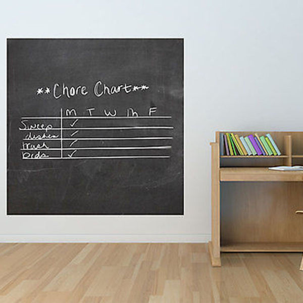 Huge Square Chalkboard Vinyl Wall Decal - Decor Designs Decals