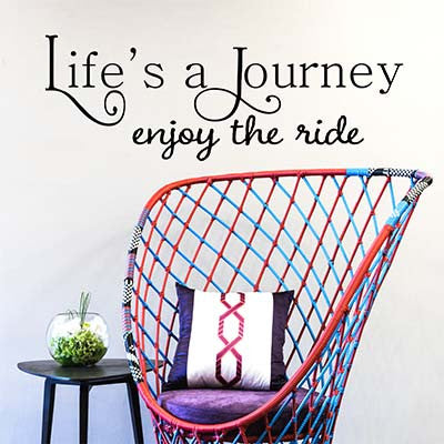 Lifes A Journey Vinyl Wall Decal Sticker - Decor Designs Decals