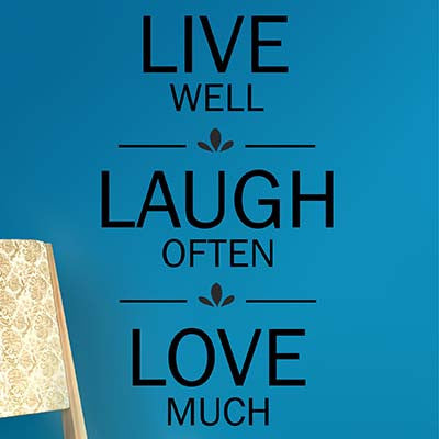 Live Well Vinyl Wall Decal Sticker - Decor Designs Decals