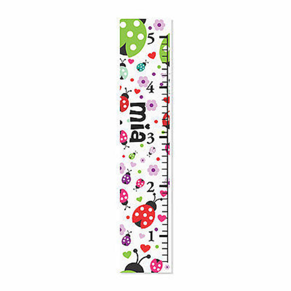 Ladybug Canvas Growth Chart - Decor Designs Decals