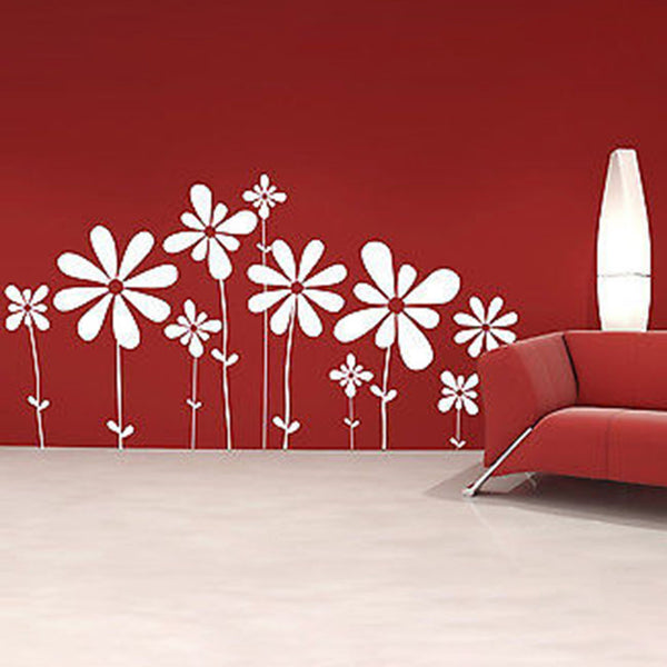 Large Beautiful Flowers Vinyl Wall Decal Sticker - Decor Designs Decals