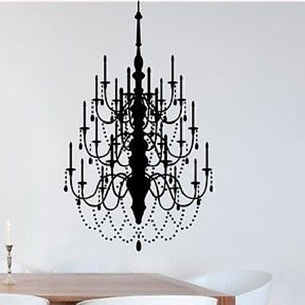 Large Chandelier Vinyl Wall Decal Sticker - Decor Designs Decals