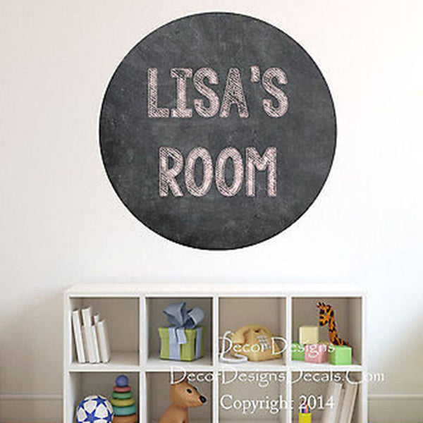 Large Circle Chalkboard Vinyl Wall Decal - Decor Designs Decals