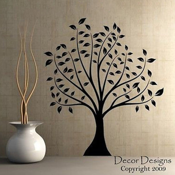 Large Leafed Tree Vinyl Wall Decal Sticker - Decor Designs Decals