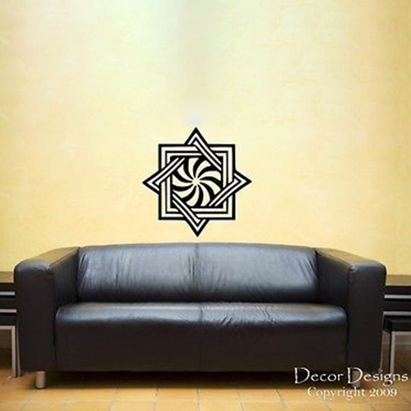 Large Mandala Vinyl Wall Decal Sticker - Decor Designs Decals