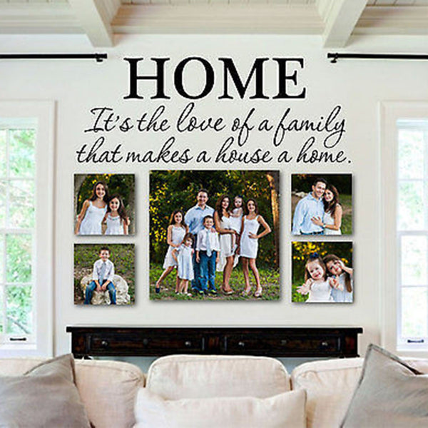 "Love of Family Makes a House a Home Quote Vinyl Wall Decal 28"" Wide by 10"" High - Decor Designs Decals"