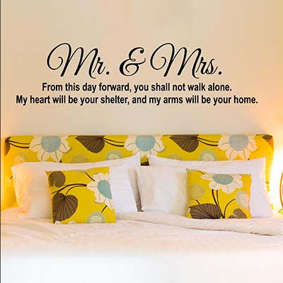 Mr And Mrs Vinyl Wall Decal Sticker - Decor Designs Decals