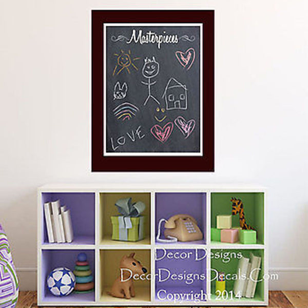 Masterpieces Chalkboard Vinyl Wall Decal - Decor Designs Decals