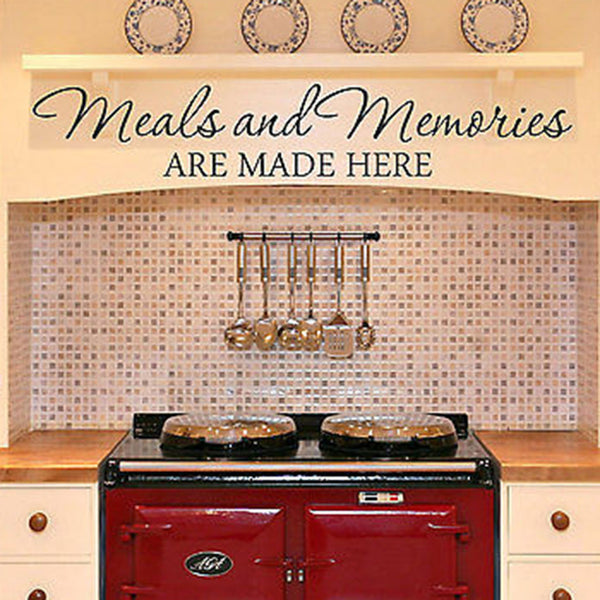 What Kind Of Paint To Use On Kitchen Cabinets For Vinyl Wall Art Stickers Meals And Memories Are Made Here Kitchen Diner Quote Vinyl