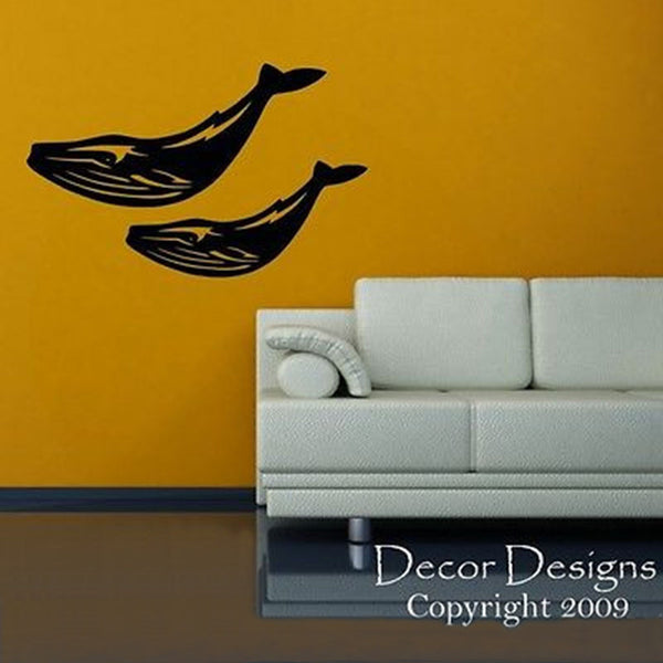 Mom and Baby Whale Vinyl Wall Decal - Decor Designs Decals
