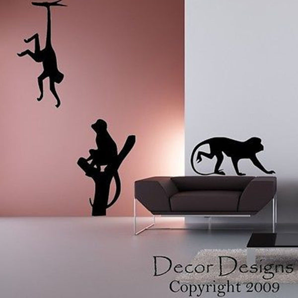 Monkeys Vinyl Wall Decal Sticker - Decor Designs Decals