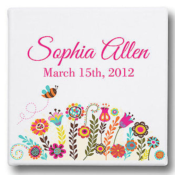 Name and Date Personalized Gallery Wrapped Canvas Art - Decor Designs Decals