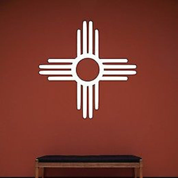 New Mexico Zia Symbol Vinyl Wall Decal - Decor Designs Decals
