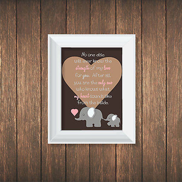 No One Else Quote Elephant Print - Decor Designs Decals