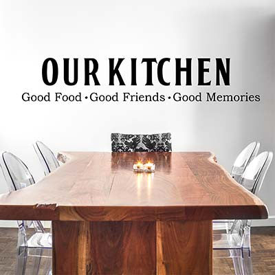 Our Kitchen Vinyl Wall Decal Sticker - Decor Designs Decals
