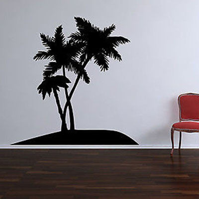 Palm Tree Oasis Vinyl Wall Decal Sticker - Decor Designs Decals