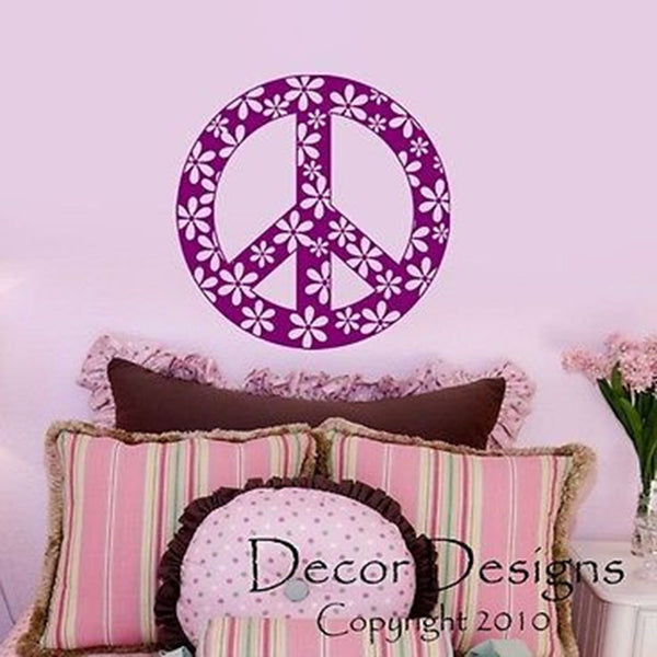 Peace Sign Vinyl Wall Decal Sticker - Decor Designs Decals