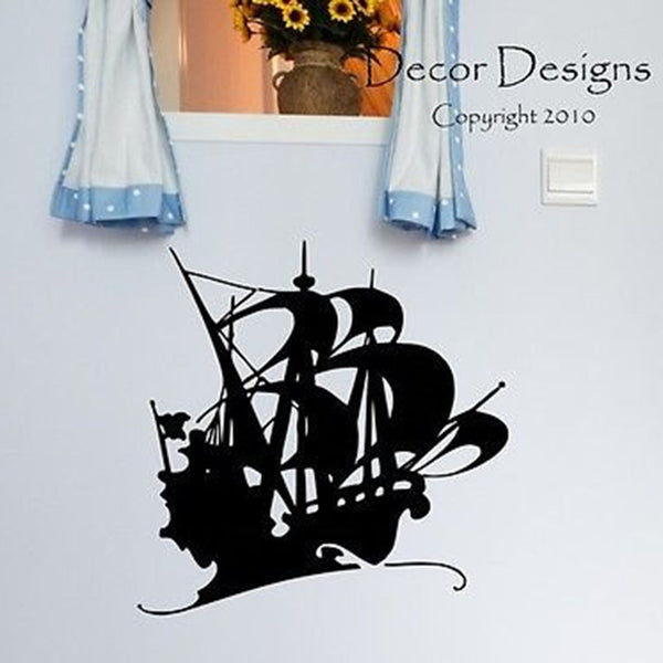 Pirate Ship Vinyl Wall Decal Sticker - Decor Designs Decals
