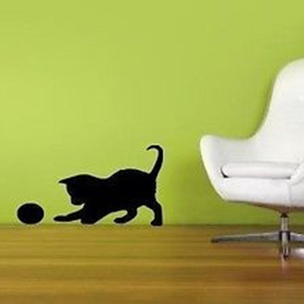 Playful Kitty with a Ball Vinyl Wall Art Decal Sticker - Decor Designs Decals