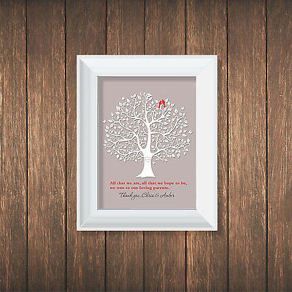 Quote To Parents Personalized Print - Decor Designs Decals