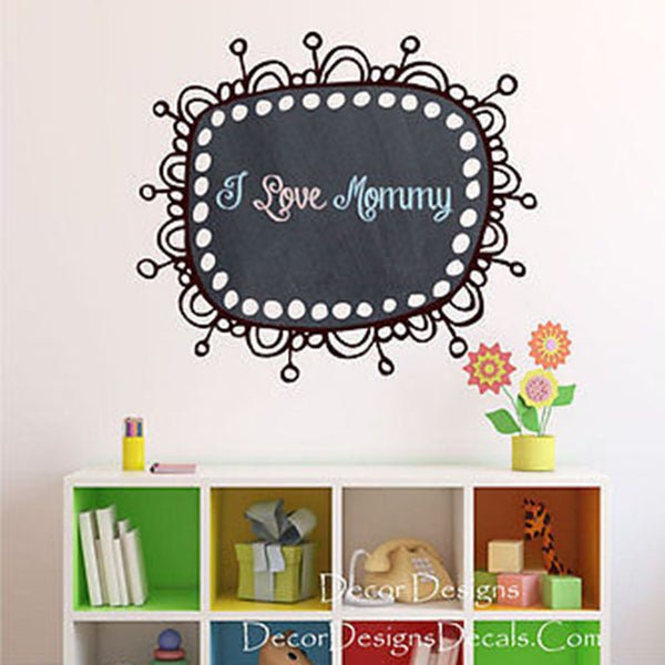 Retro Frame Chalkboard Vinyl Wall Decal Sticker - Decor Designs Decals
