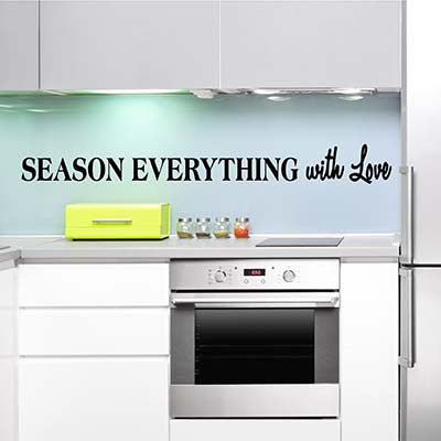 Season Everything With Love Vinyl Wall Decal Sticker - Decor Designs Decals