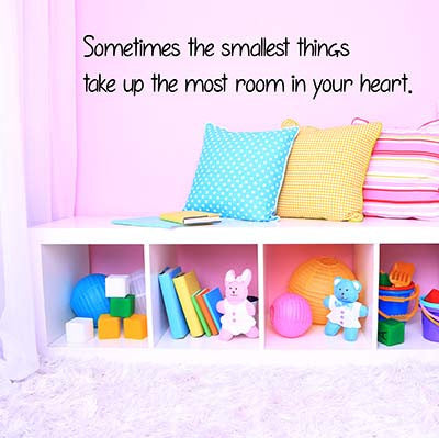 Sometimes The Smallest Vinyl Wall Decal Sticker - Decor Designs Decals