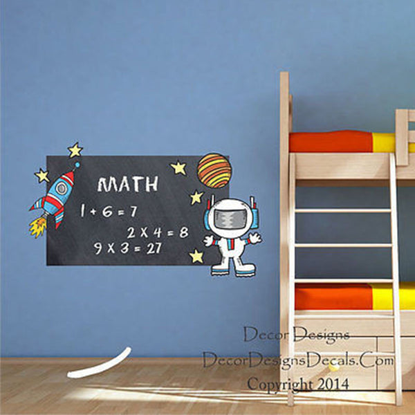 Space Chalkboard Vinyl Wall Decal Sticker - Decor Designs Decals