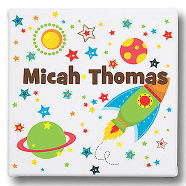 Space Personalized Name Gallery Wrapped Canvas Art - Decor Designs Decals