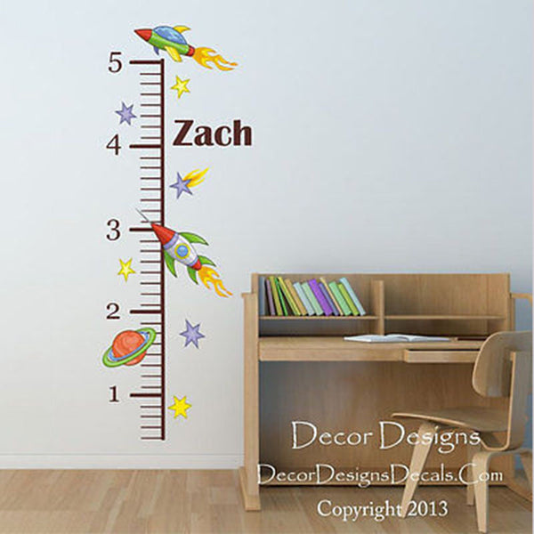 Space Growth Chart Wall Decal - Decor Designs Decals - 1