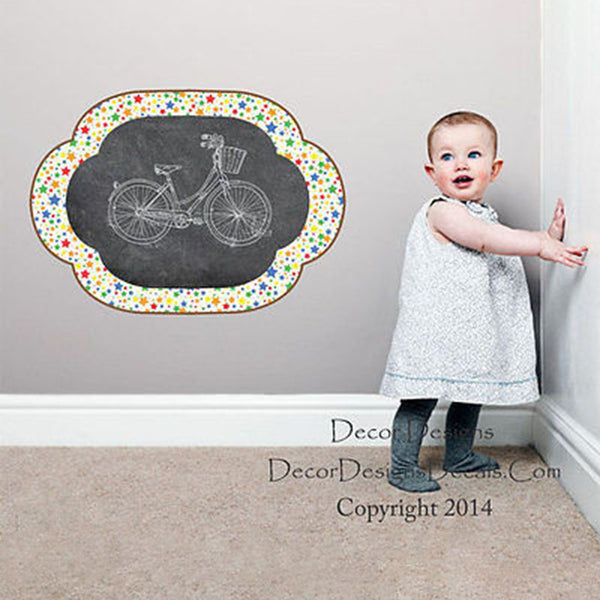 Star Pattern Chalkboard Vinyl Wall Decal Sticker - Decor Designs Decals
