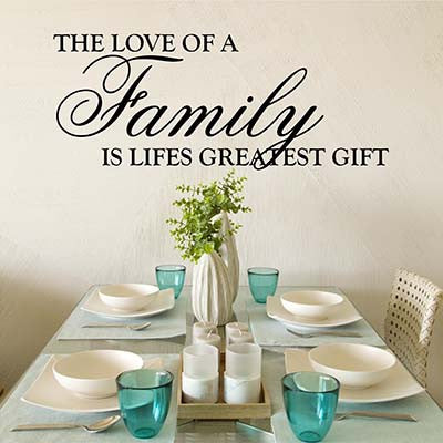 The Love Of A Family Vinyl Wall Decal Sticker - Decor Designs Decals