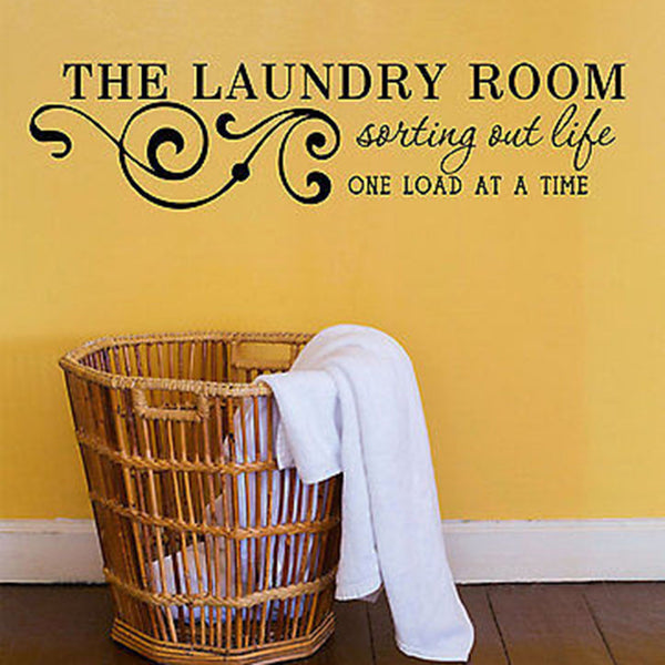 Laundry Room Wall Decals - Sorting Out Life H25 - Decor Designs Decals - 1