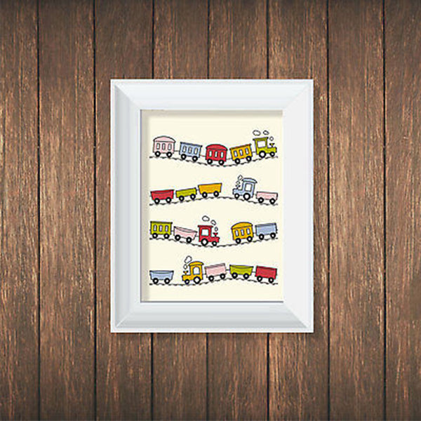 Trains Print - Decor Designs Decals