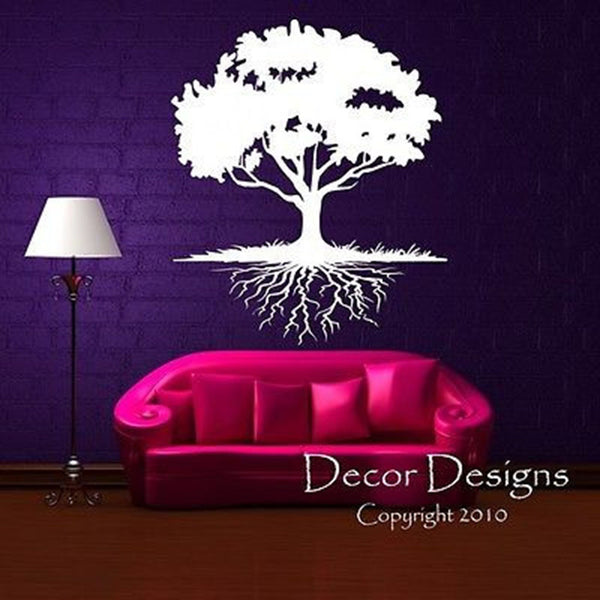Tree With Roots Vinyl Wall Decal Sticker - Decor Designs Decals