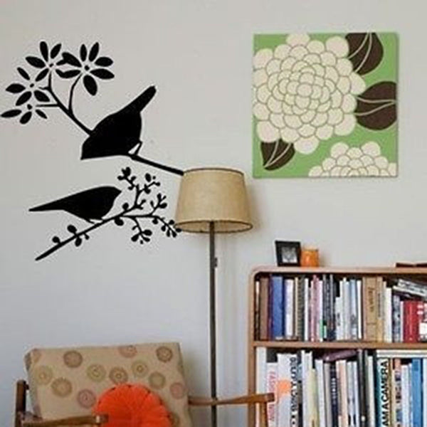 Two Little Birds on Branches Vinyl Wall Decal Sticker - Decor Designs Decals