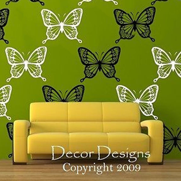 Two Tone Butterflies Vinyl Wall Decal 14 Pack - Decor Designs Decals