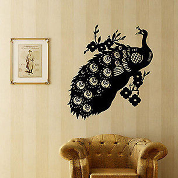 Vintage Peacock Wall Decal - Decor Designs Decals