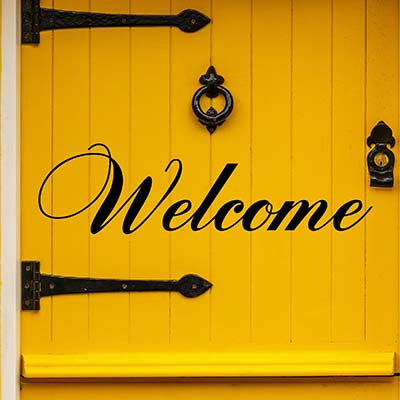 Welcome Vinyl Wall Decal Sticker - Decor Designs Decals