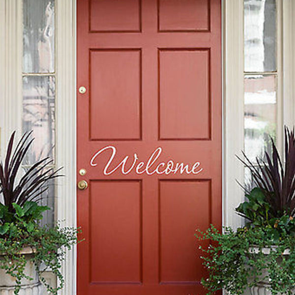 Welcome Wall Decal- by Decor Designs Decals, welcome, decal, welcome decal, welcome wall decal, wall decals, welcome home, welcome decals, welcome sign, sticker H33 - Decor Designs Decals - 1