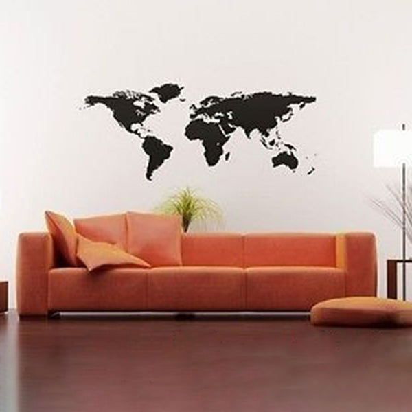 World Map Vinyl Wall Decal Sticker - Decor Designs Decals