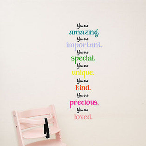 You Are Amazing Quote Nursery Varied Size Vinyl Wall Decal Sticker - Decor Designs Decals